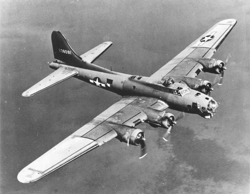 B-17 on Bomb Run 1940s