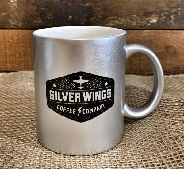 Silver Wings Silver Coffee Mug