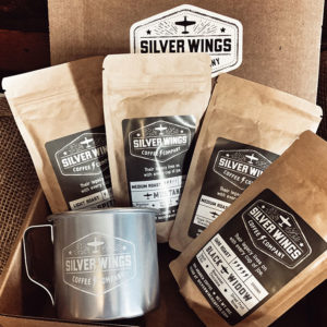Airplane coffee sampler and mug gift