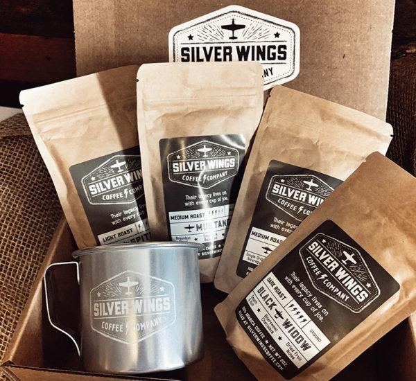 Airplane coffee sampler and mug gift