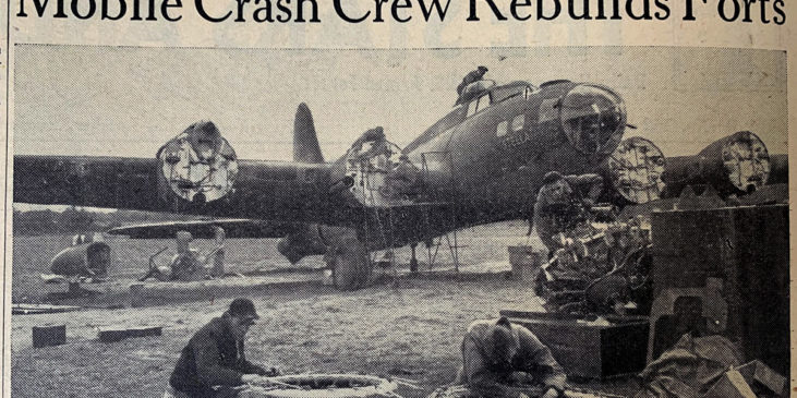 Flying Fortress crash