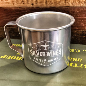 Aluminum replica WWII coffee cup