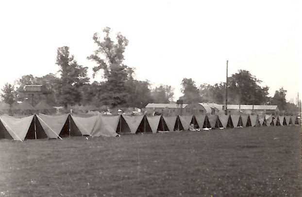 Pup tents in France